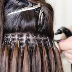 extensiones de cabello punto a punto