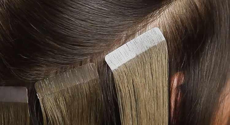 extension de cabello adhesiva